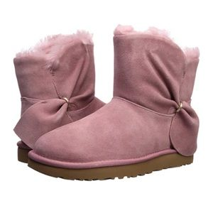 UGG Authentic 'Classic Mini Twist Bow' boots pink